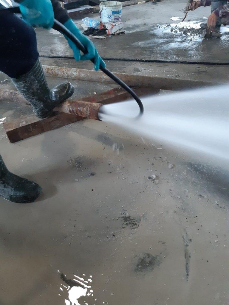 Przetykanie rur u jednego z naszych klientów